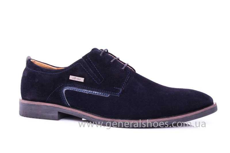 Мужские замшевые туфли Ed-Ge Titan blue фото 1