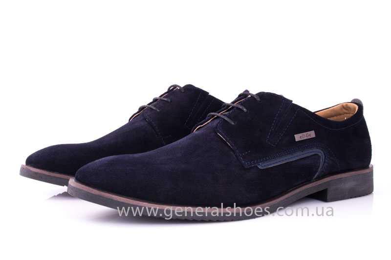 Мужские замшевые туфли Ed-Ge Titan blue фото 6