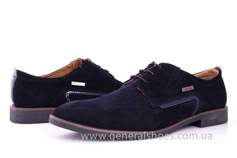 Мужские замшевые туфли Ed-Ge Titan blue фото 7