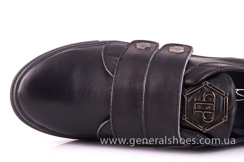 Женские кожаные кеды 2L blk фото 5