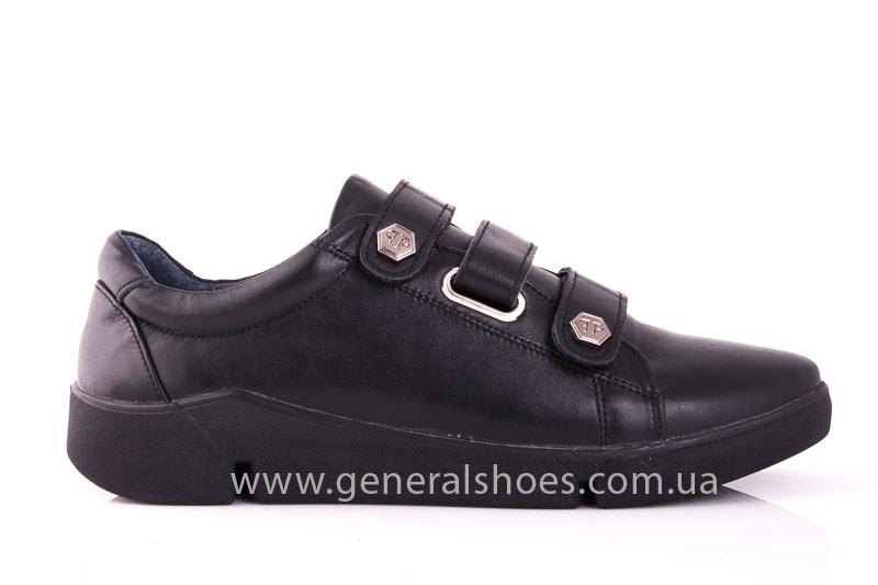 Женские кожаные кроссовки 3L blk фото 2