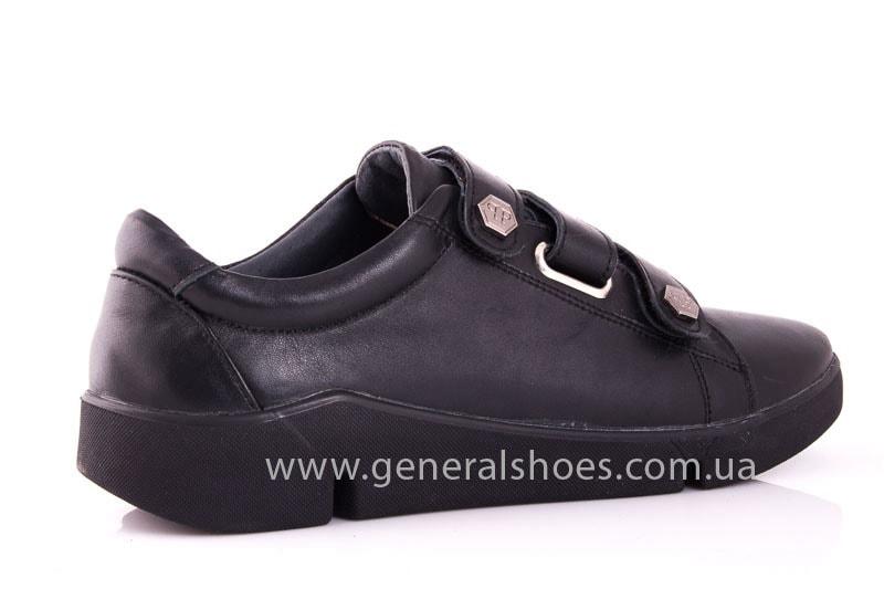 Женские кожаные кроссовки 3L blk фото 3