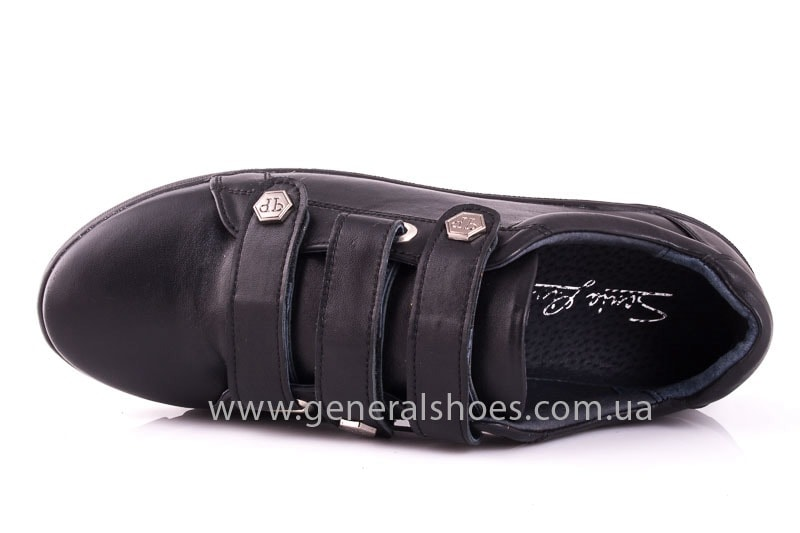 Женские кожаные кроссовки 3L blk фото 4