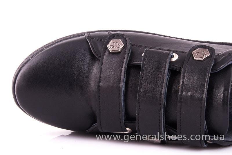 Женские кожаные кроссовки 3L blk фото 5