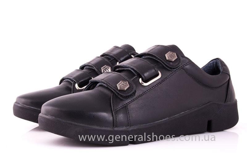 Женские кожаные кроссовки 3L blk фото 6