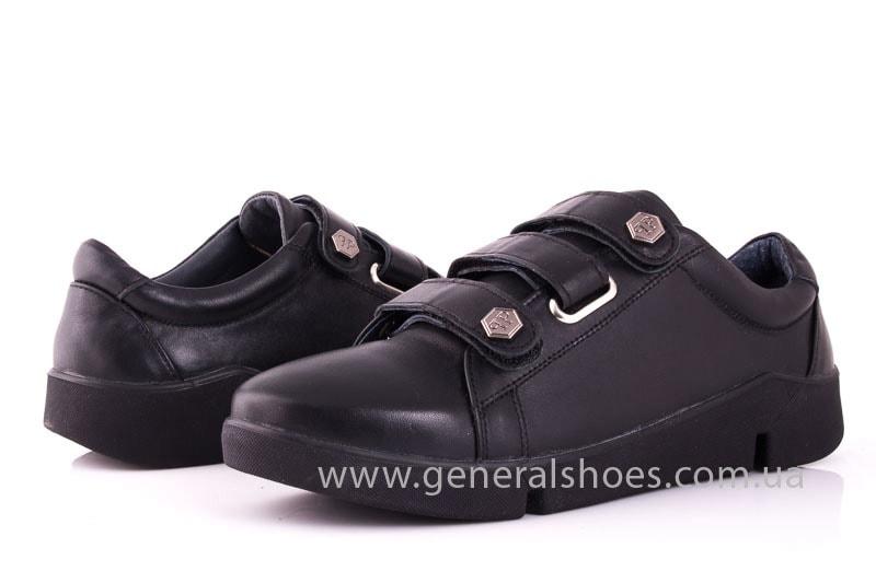Женские кожаные кроссовки 3L blk фото 7