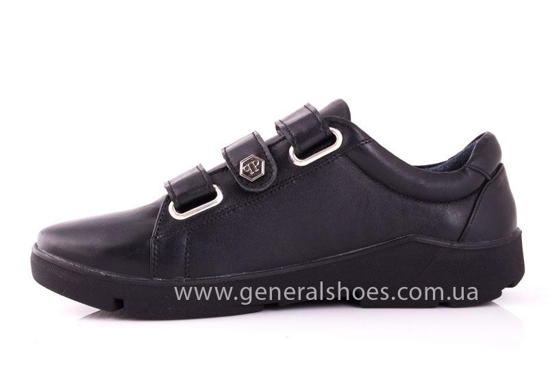 Женские кожаные кроссовки 3L blk фото 8