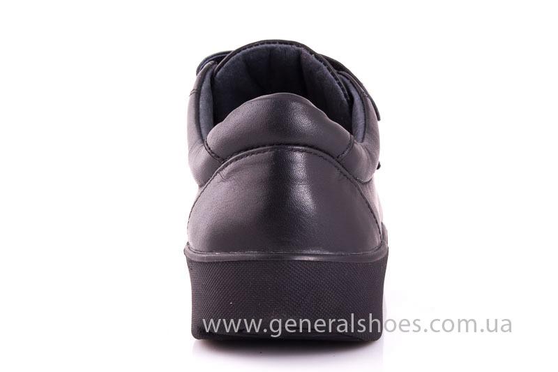 Женские кожаные кроссовки 3L blk фото 9