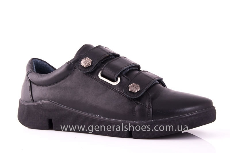 Женские кожаные кроссовки 3L blk фото 1