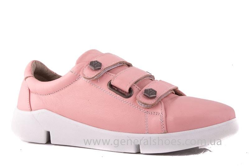 Женские кожаные кроссовки 3L pink фото 1