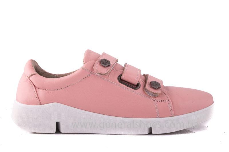 Женские кожаные кроссовки 3L pink фото 2