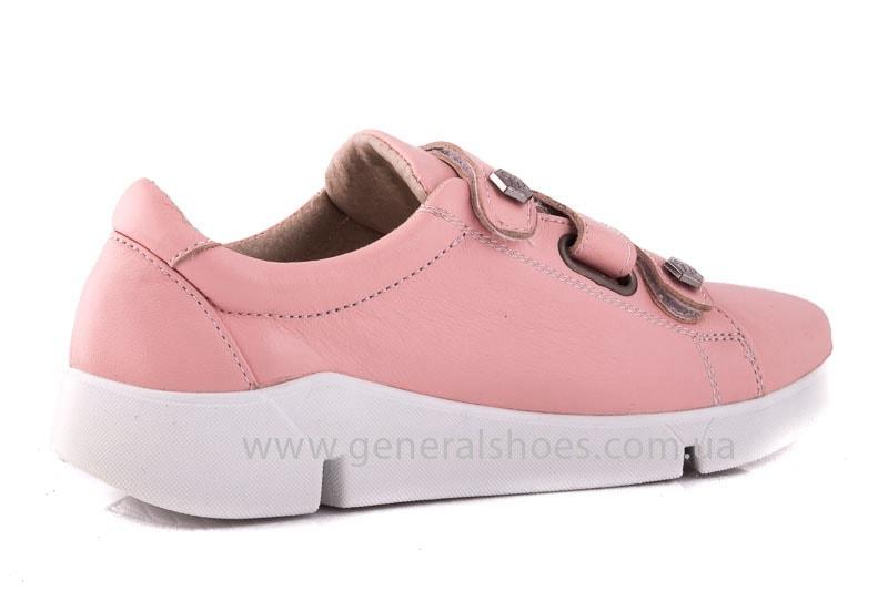 Женские кожаные кроссовки 3L pink фото 3