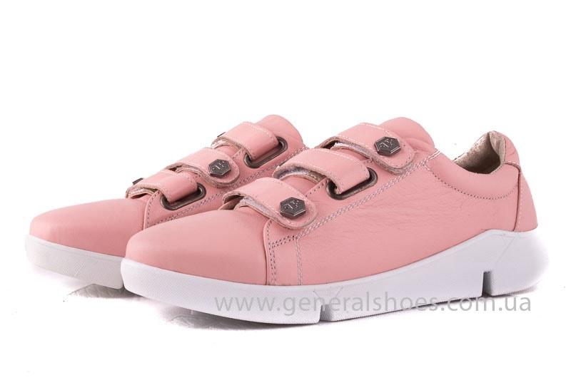 Женские кожаные кроссовки 3L pink фото 4