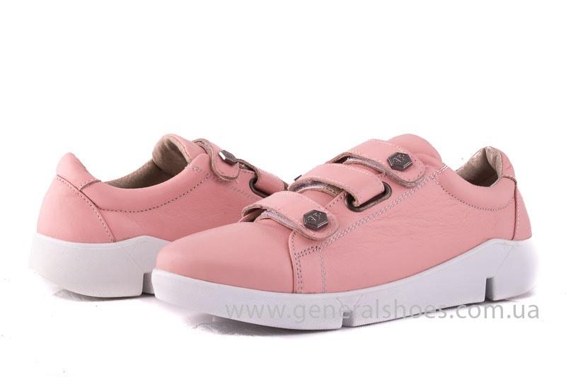 Женские кожаные кроссовки 3L pink фото 5