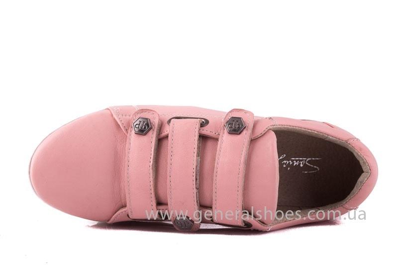 Женские кожаные кроссовки 3L pink фото 6