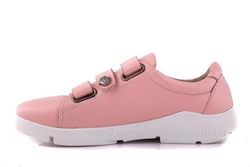 Женские кожаные кроссовки 3L pink фото 7