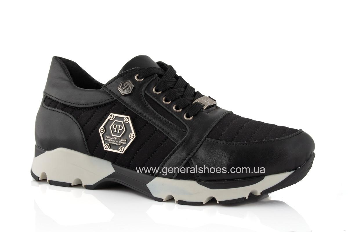 Женские кожаные кроссовки 620 черные фото 1