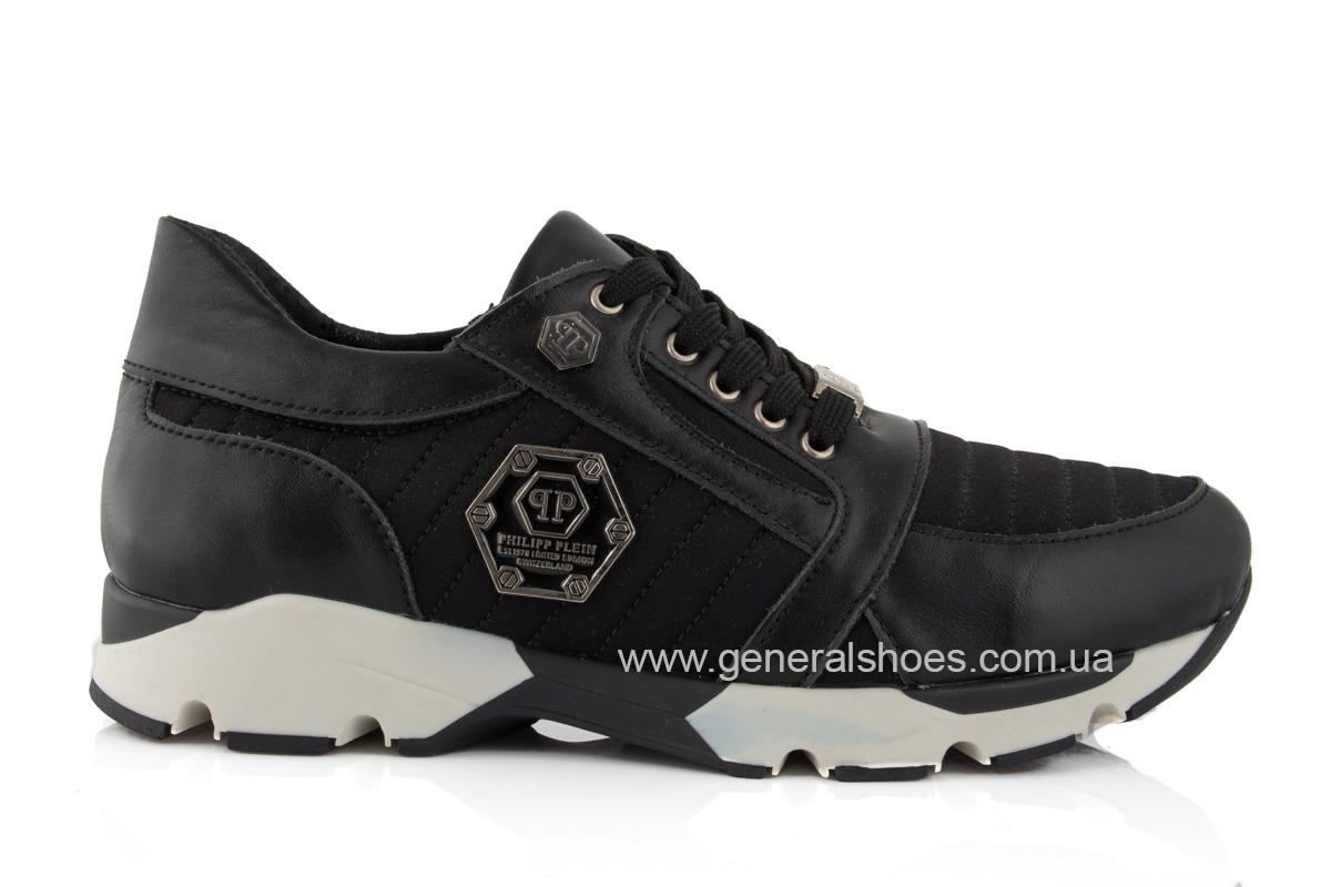 Женские кожаные кроссовки 620 черные фото 2