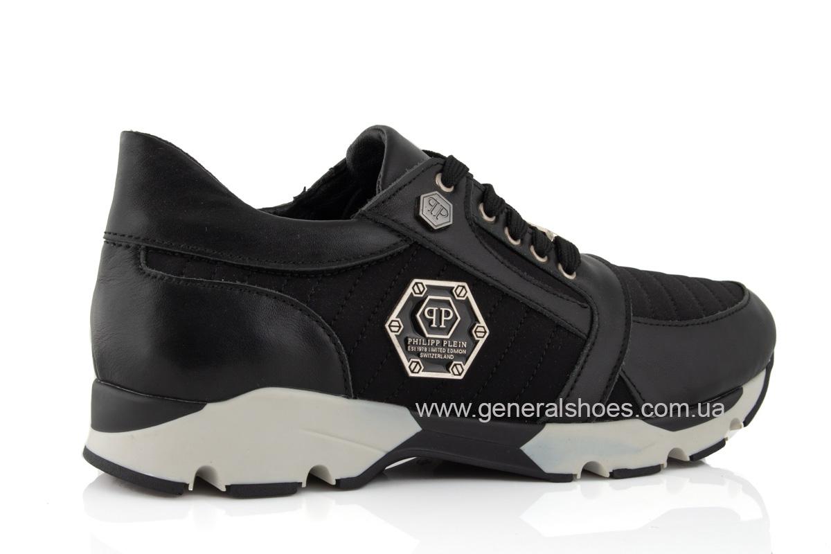 Женские кожаные кроссовки 620 черные фото 3