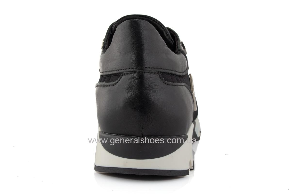 Женские кожаные кроссовки 620 черные фото 4