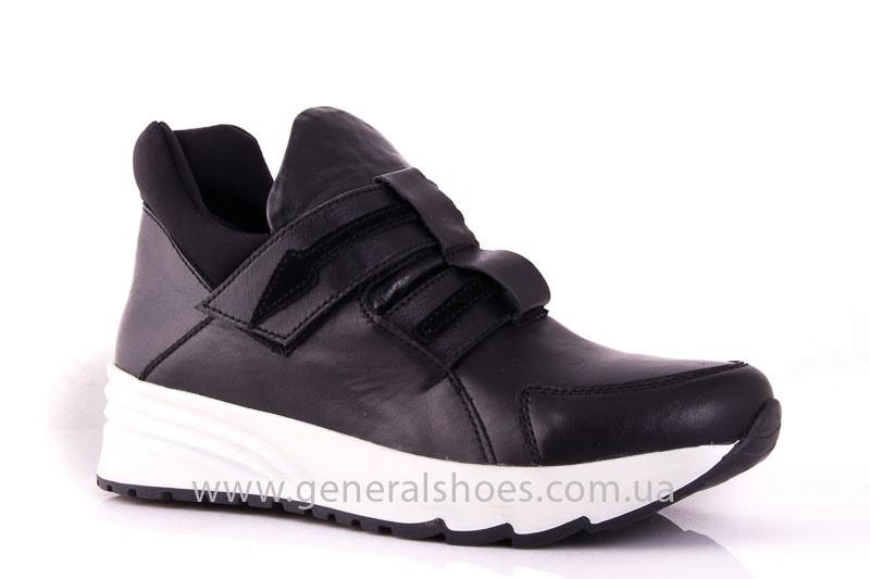 Женские кожаные кроссовки C2 blk фото 1