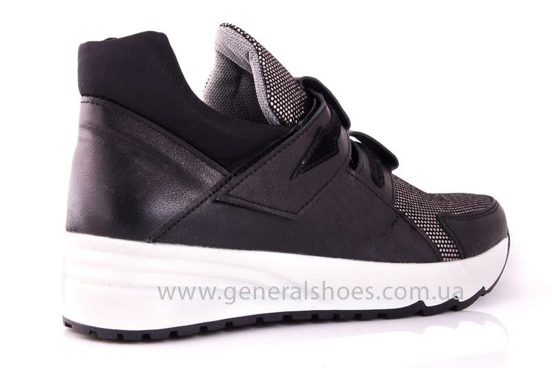 Женские кожаные кроссовки C2 blk.g. фото 3