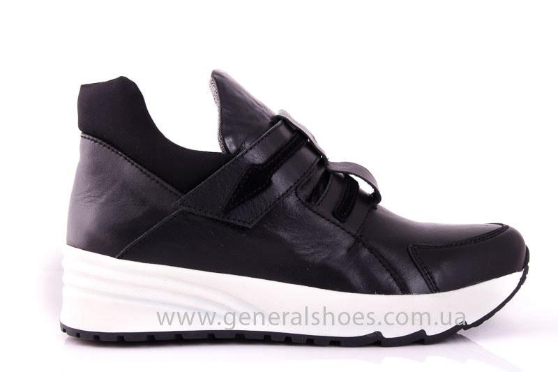 Женские кожаные кроссовки C2 blk фото 2
