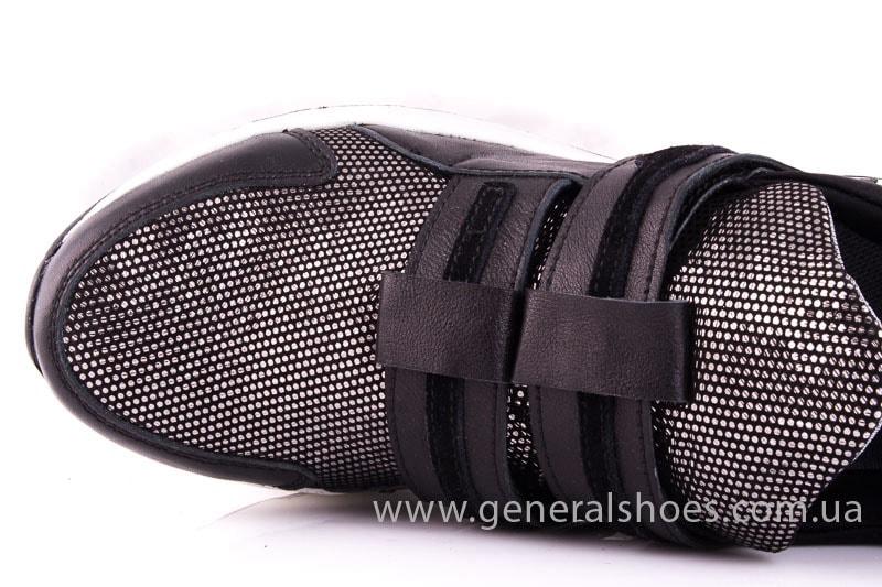 Женские кожаные кроссовки C2 blk.g. фото 4