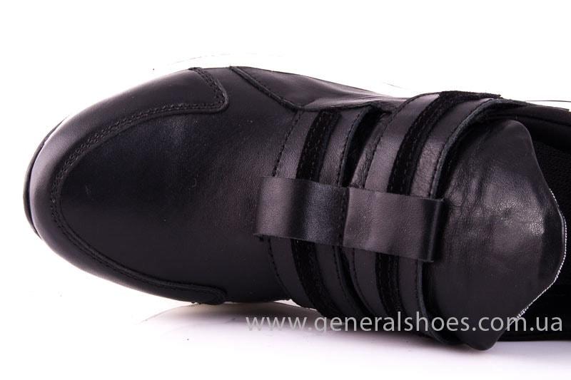 Женские кожаные кроссовки C2 blk фото 5