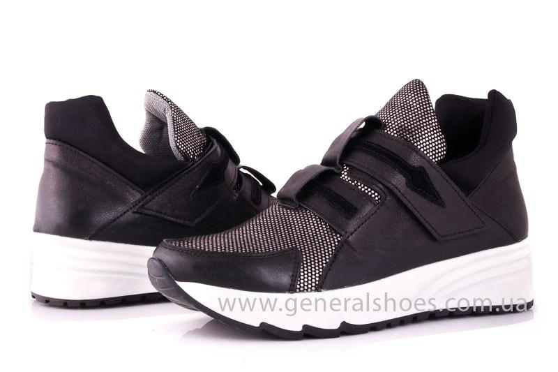Женские кожаные кроссовки C2 blk.g. фото 7