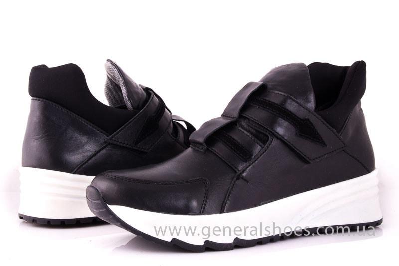 Женские кожаные кроссовки C2 blk фото 7