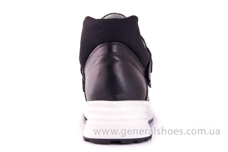 Женские кожаные кроссовки C2 blk.g. фото 9