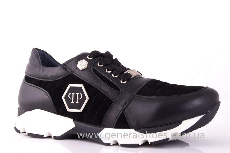 Женские кожаные кроссовки Fit blk фото 1