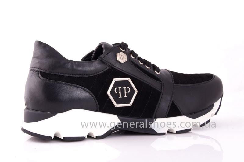 Женские кожаные кроссовки Fit blk фото 3