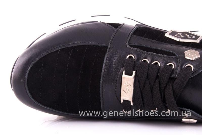 Женские кожаные кроссовки Fit blk фото 5