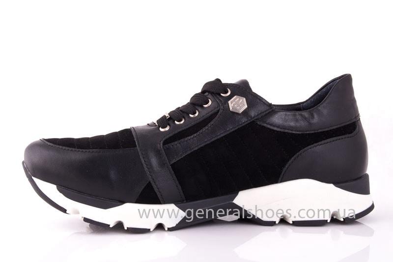 Женские кожаные кроссовки Fit blk фото 8