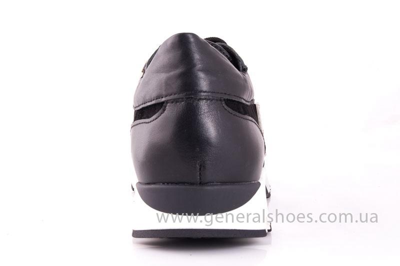 Женские кожаные кроссовки Fit blk фото 9