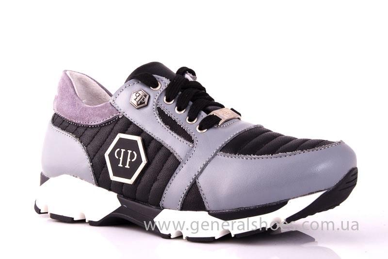 Женские кожаные кроссовки Fit gray фото 1