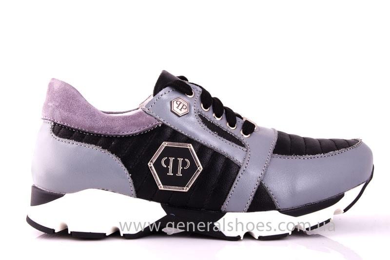 Женские кожаные кроссовки Fit gray фото 2