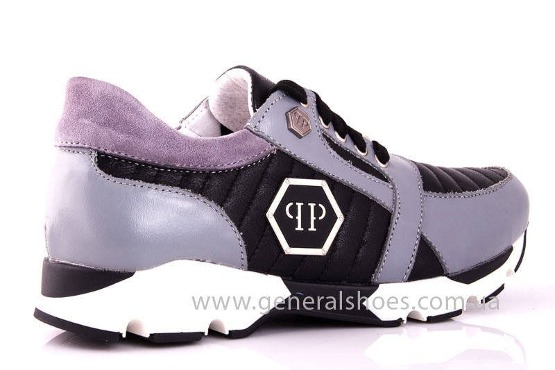 Женские кожаные кроссовки Fit gray фото 3