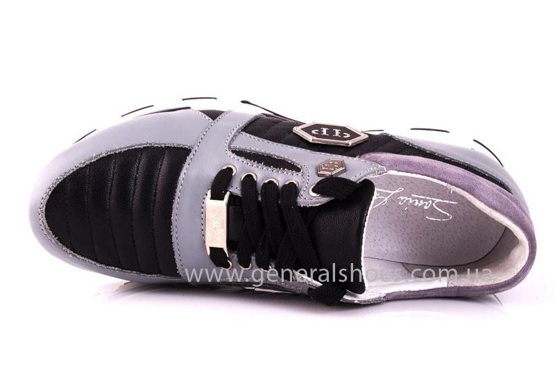 Женские кожаные кроссовки Fit gray фото 4