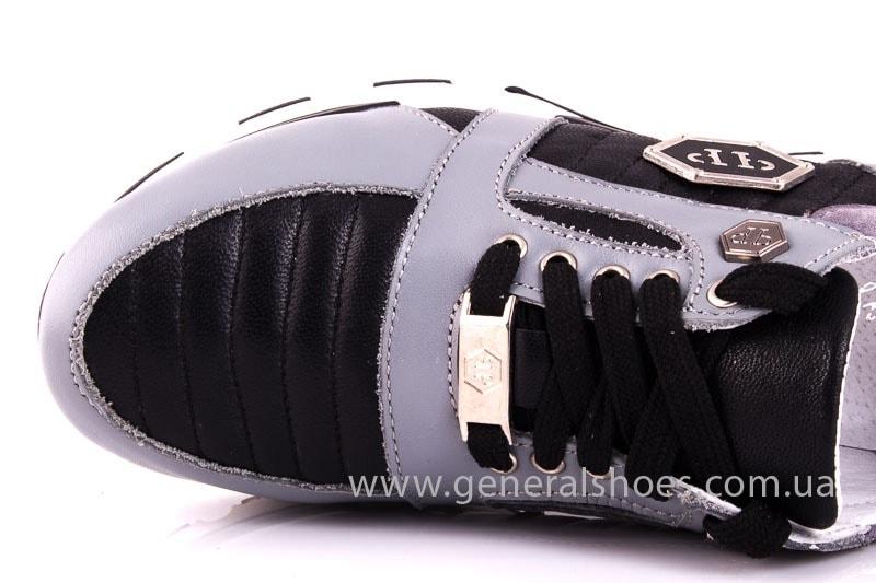 Женские кожаные кроссовки Fit gray фото 5