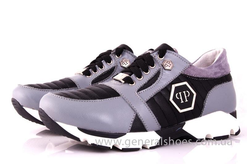 Женские кожаные кроссовки Fit gray фото 6