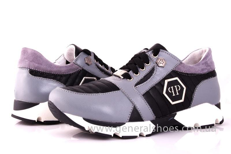 Женские кожаные кроссовки Fit gray фото 7
