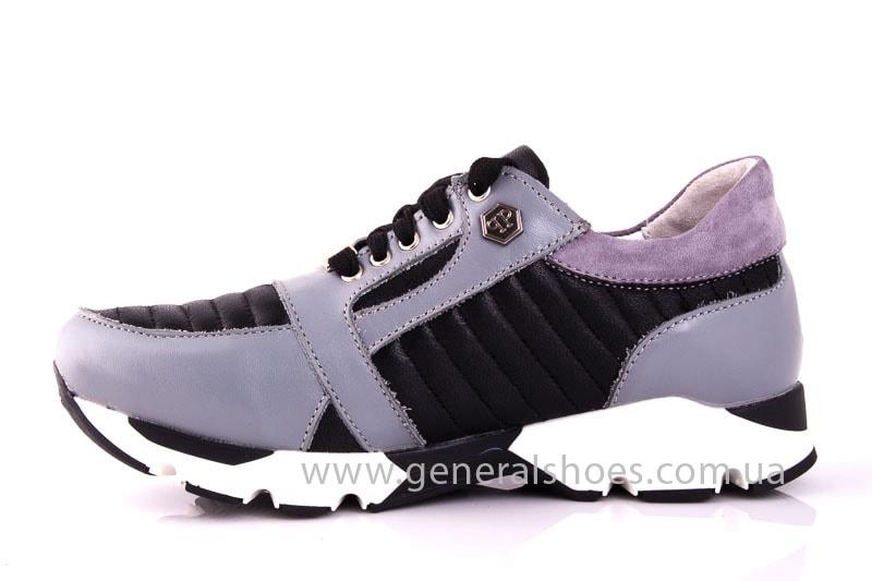Женские кожаные кроссовки Fit gray фото 8
