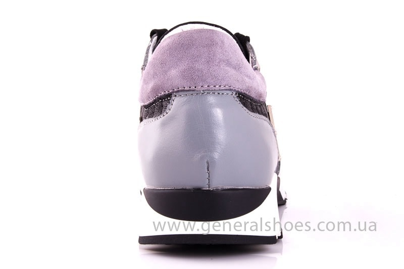 Женские кожаные кроссовки Fit gray фото 9