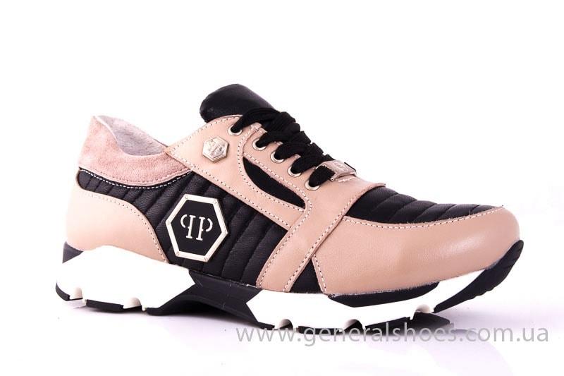 Женские кожаные кроссовки Fit pink фото 1
