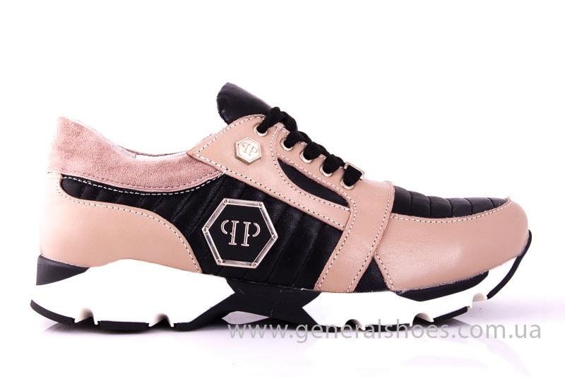 Женские кожаные кроссовки Fit pink фото 2