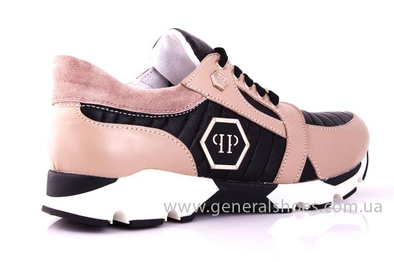 Женские кожаные кроссовки Fit pink фото 3