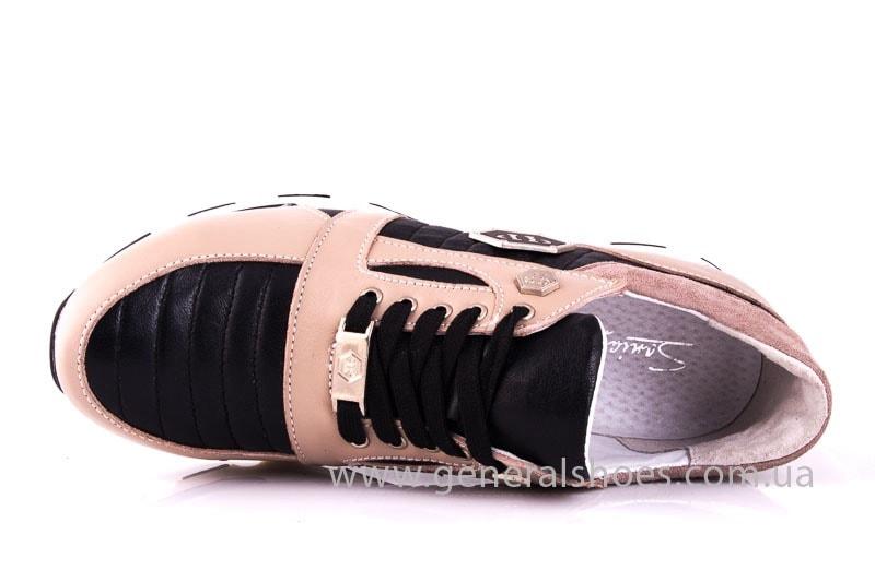 Женские кожаные кроссовки Fit pink фото 4